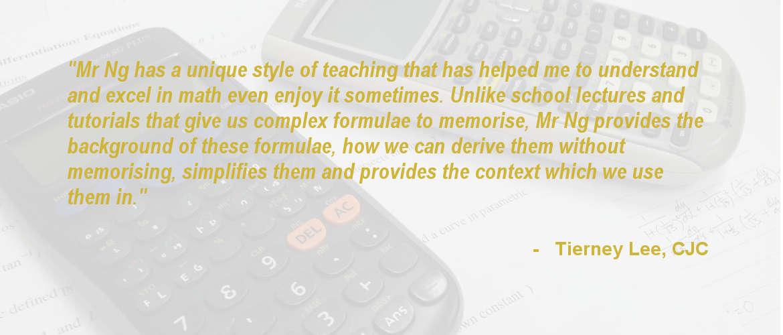 JC Math Tuition   \'O\' & \'A\' Level H2 Mathematics Specialist