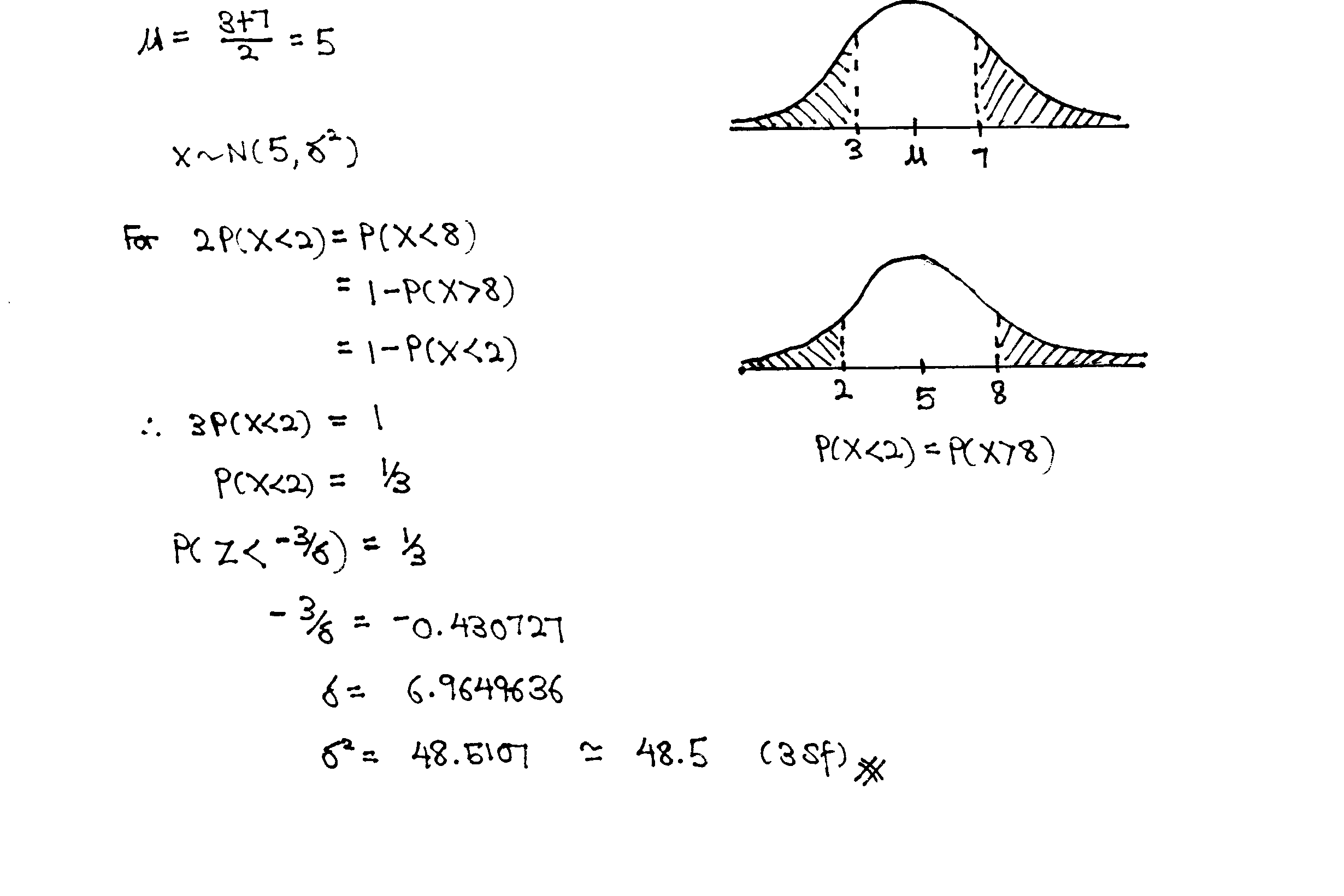 NYJC Normal Distribution Tutorial Q7 Solution A level JC H2 Math tuition