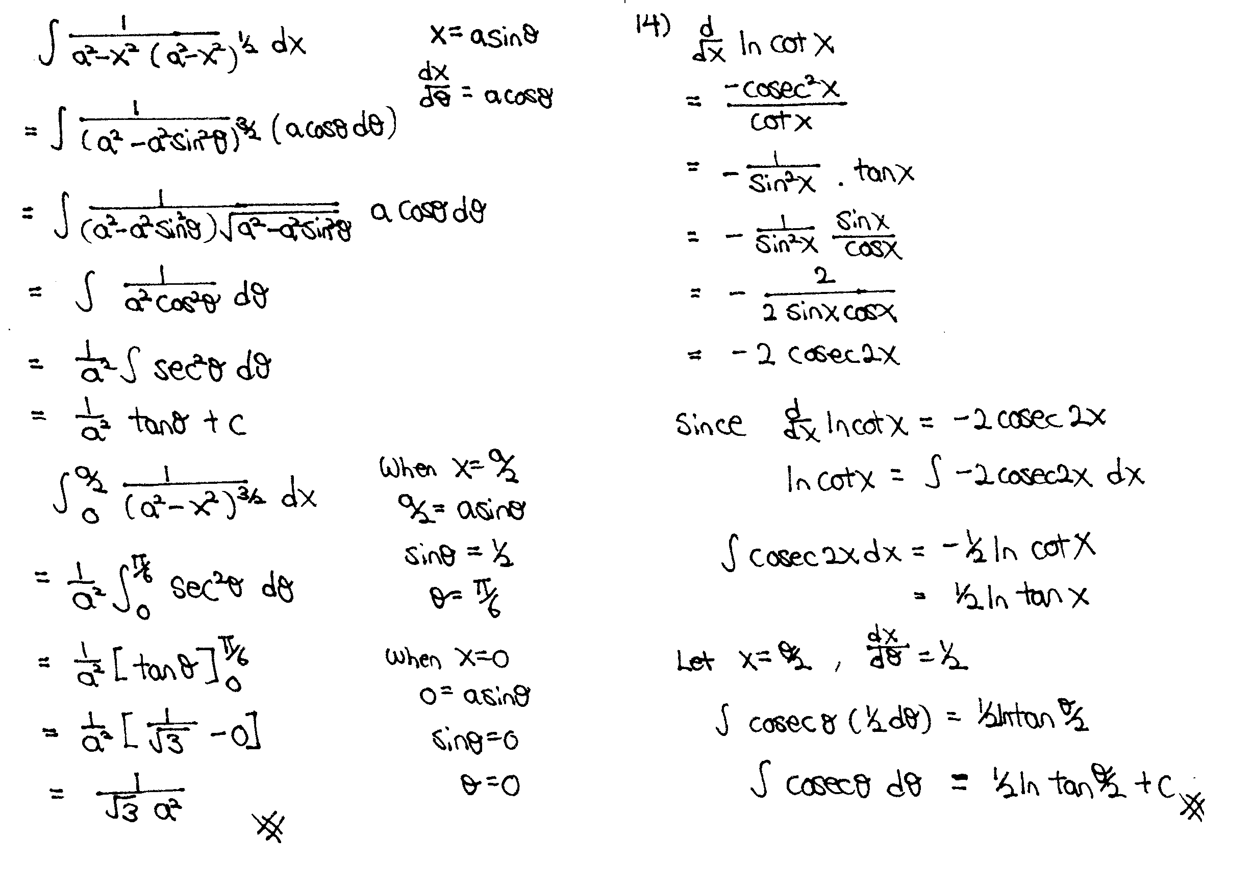 Integration Techniques Solution, Integration By Substitution, Integrate Trigo Functions, Definite Integral, Derivation of Integration Formular, MF26, JC Math Tuition