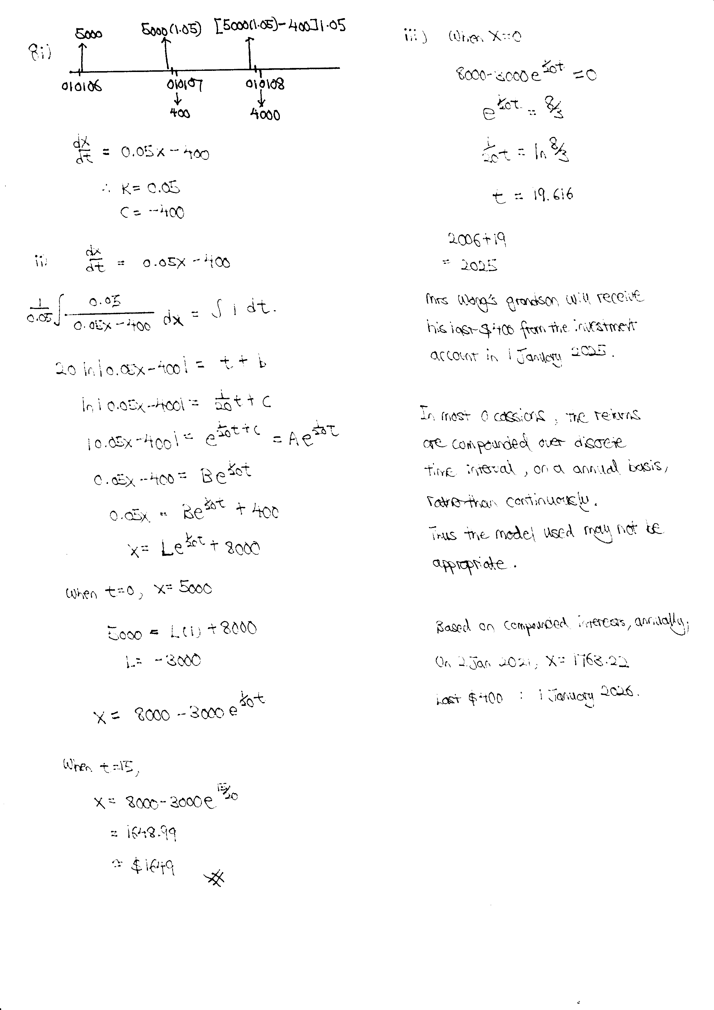R5 Differential Equations Q9 Solutions JC Math Tuition